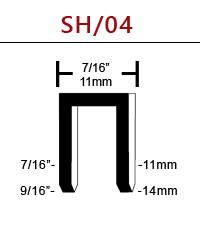 RAPTOR® SH/04-40 Composite 16 Gauge Staple